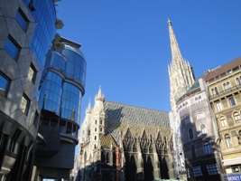 Sightseeing beim Stephansdom in Wien